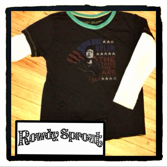 146a3c87 Rowdy Sprout Shirts & Tops | Bob Dylan Double Layer Long Sleeve T ...